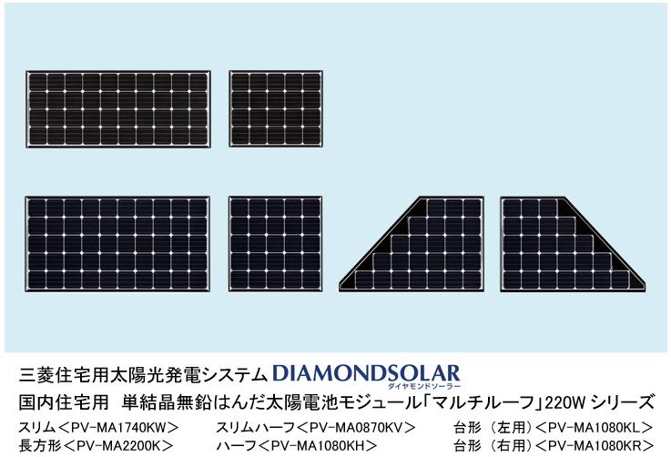 三菱電機 2013年太陽光パネル新商品